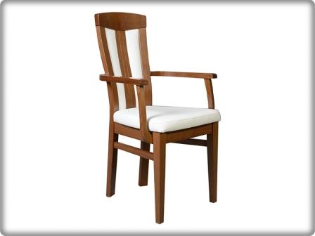 Concerto - dió/fehér - kárpitos támlás karfás szék